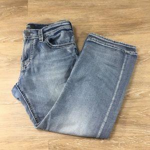 Silver Jeans zac boot cut light wash size 34